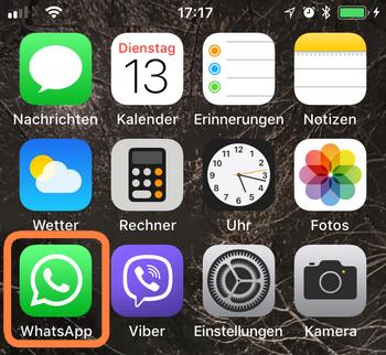 WhatsApp am iPhone starten