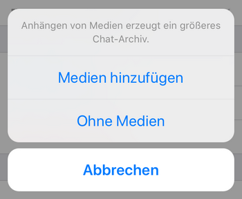 WhatsApp Medien sichern