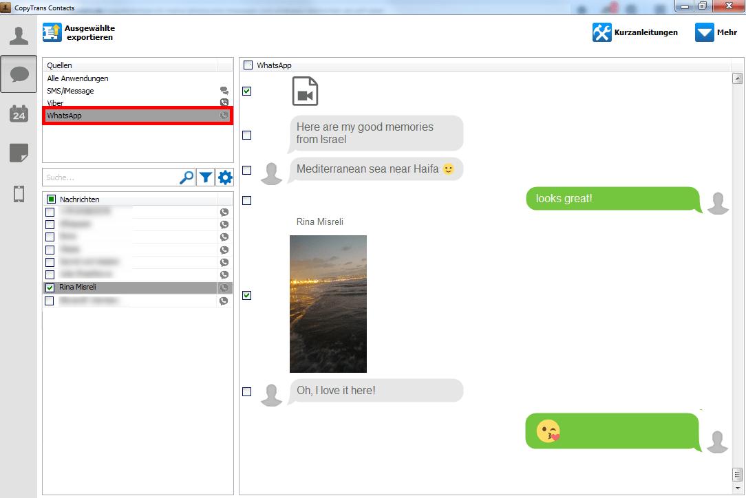 WhatsApp Chat-Verläufe am PC speichern
