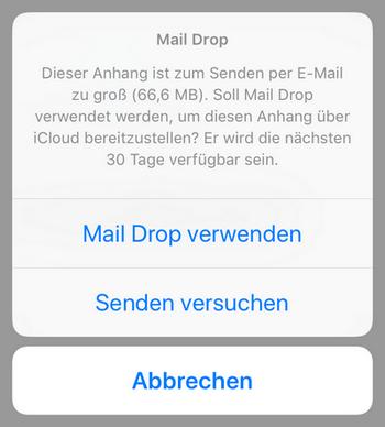 WhatsApp nicht möglich per Email zu senden