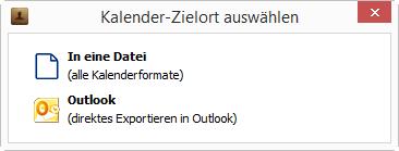 Direktes importieren ins Outlook