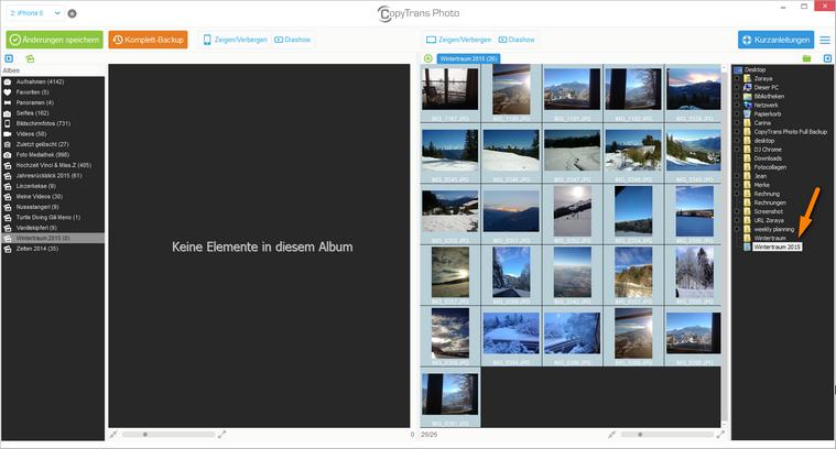 Fotos im Explorer auswählen
