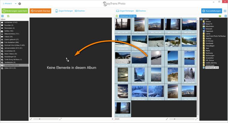 Fotos von PC auf iPad übertragen
