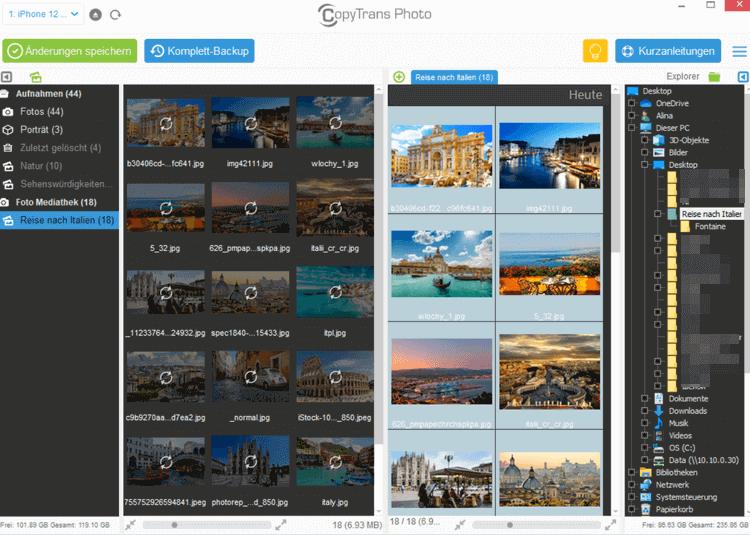 iPhone Album erstellen und Fotos auf iPhone übertragen