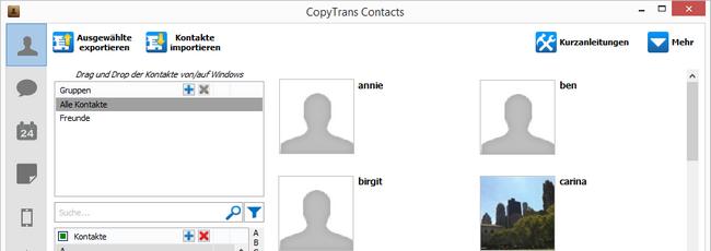 Skype Kontakte im Tool