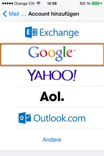 Gmail Account hinzufügen