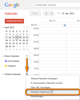 Gmail Kalender importieren