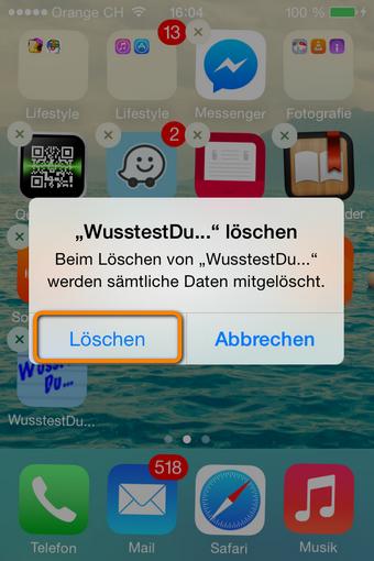 iPhone Apps endgültig löschen
