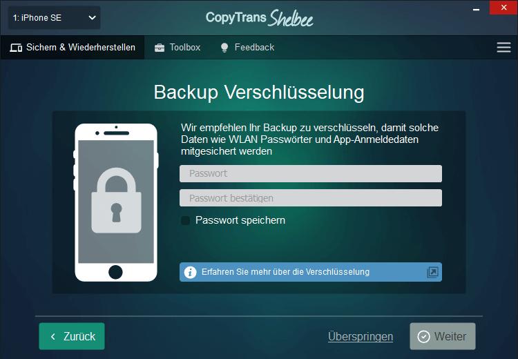 Backup Verschlüsselung