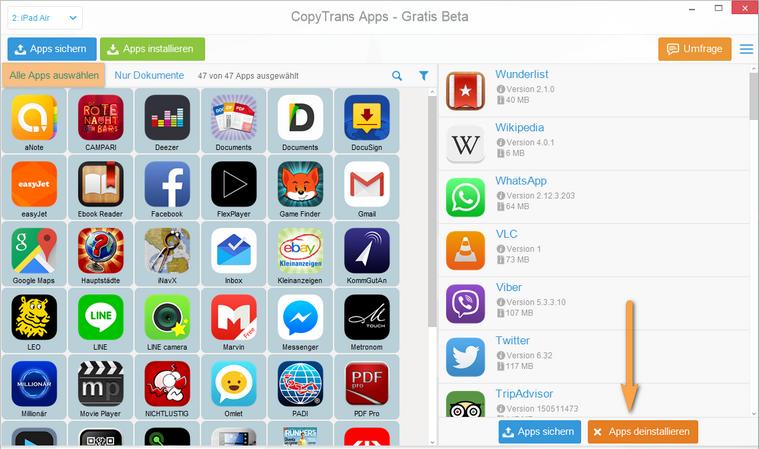 iPhone, iPad und iPod Touch Apps löschen