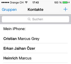 iPhone Kontakte verwalten