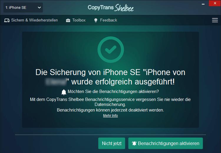 Sicherung des iPhones