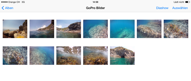 GoPro und Actioncam Bilder auf iPhone und iPad