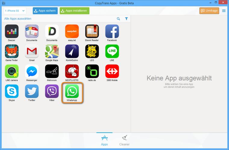 whatsapp am iphone