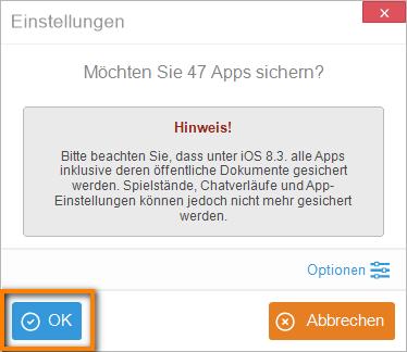 iPhone Apps mit Inhalten übertragen