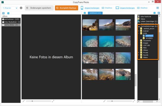 Actioncam Bilder auf iPad übertragen