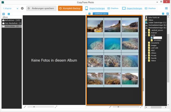 GoPro Bilder importieren