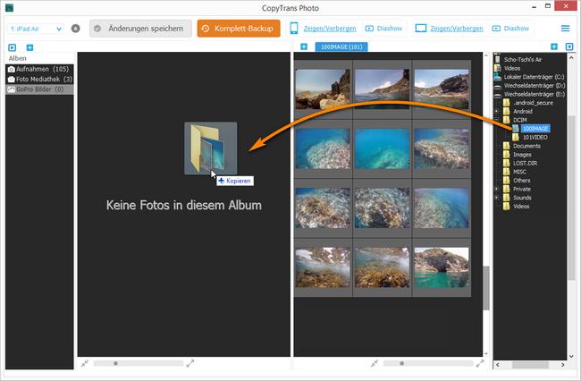 GoPro Album auf iOS Gerät übertragen