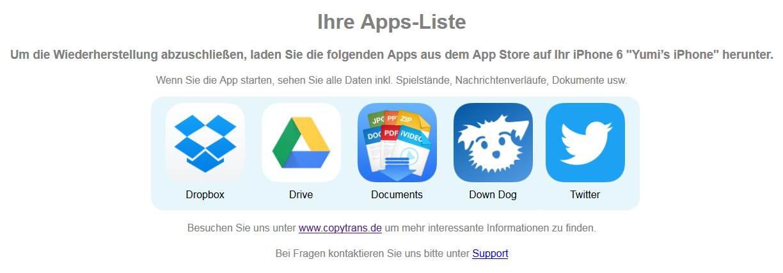Gekaufte Apps auf neues iPhone übertragen