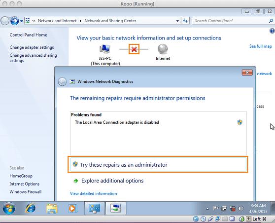 internet verbindung für windows auf mac