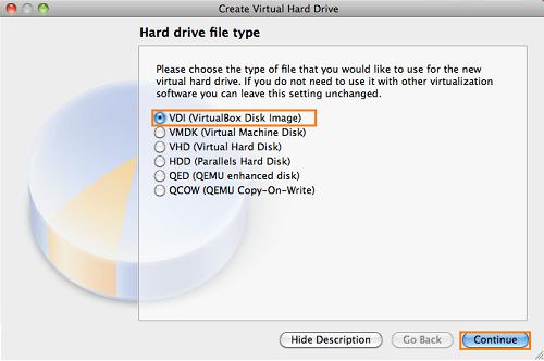laufwerks typ virtuelle maschine mac