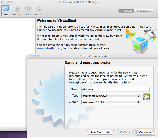 virtualbox windows 7 auf mac