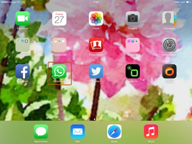 whatsapp am ipad