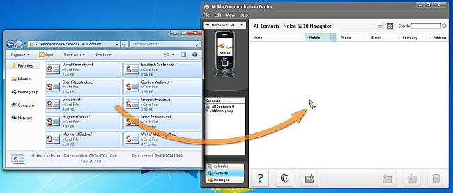 Kontakte vom PC zum Nokia Lumia übertragen