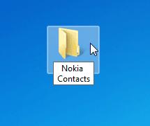 Ordner am PC erstellen und Nokia Telefonbuch übertragen