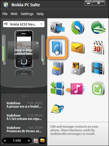 Nokia Adressbuch exportieren