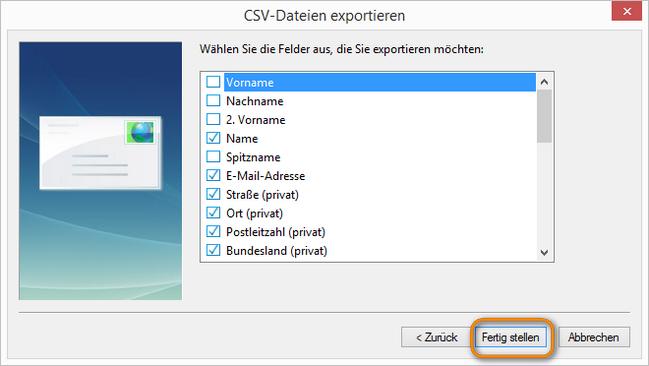 CSV-Dateien fertig stellen
