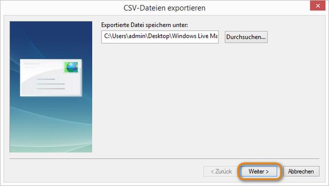 CSV-Dateien exportieren