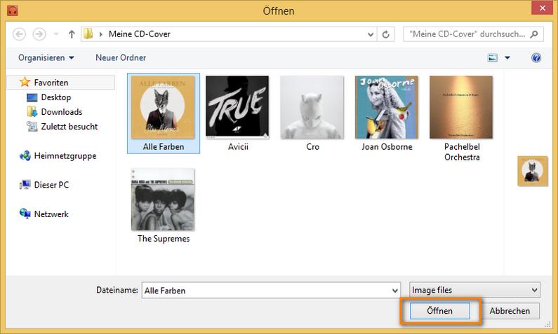CD-Cover am iPhone hinzufügen