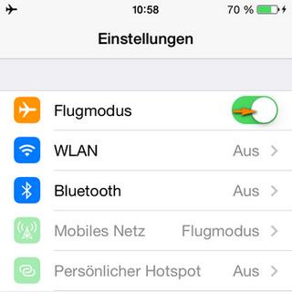 iPhone Flugmodus am iPhone aktivieren