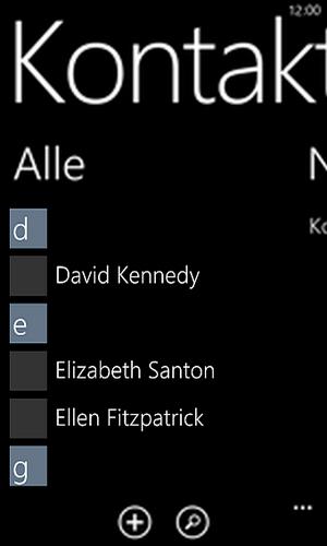 Kontakte Windows Phone synchronisiert