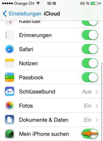Mein iPhone suchen deaktivieren
