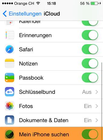 Mein iPhone suchen Funktionalität