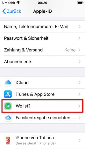 Wo ist App