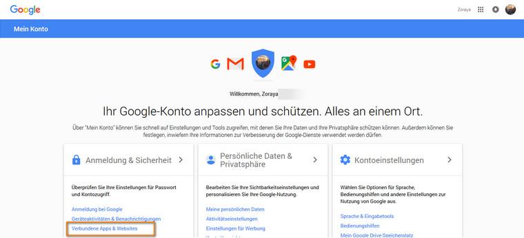 Gmail Sicherheitseinstellungen aktivieren
