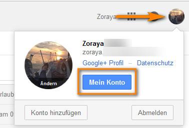 Gmail-Konto Sicherheitseinstellungen