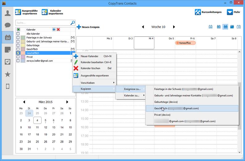 iPhone Kalender in Gmail übertragen