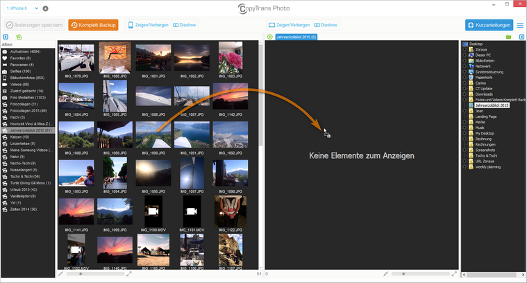 Fotos vom iPad auf den PC laden