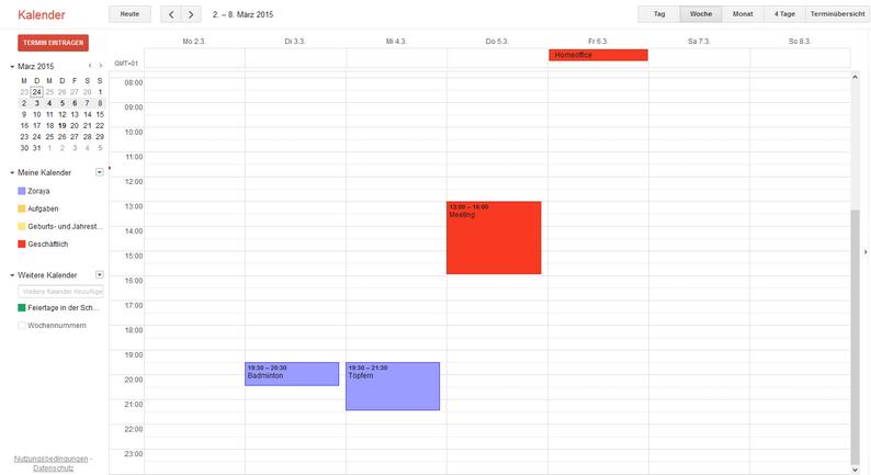 iPhone Kalender in Gmail importieren