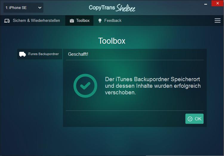 iTunes Backup Speicjerort verschieben