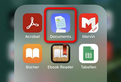 Apps zum Verwalten der Dokumente