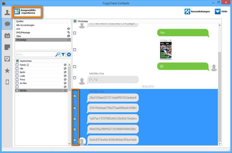 WhatsApp Sprachnachrichten exportieren