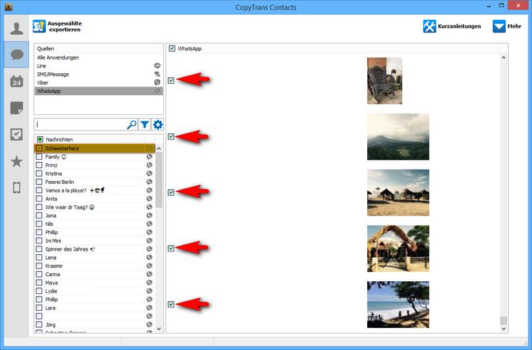 WhatsApp Bilder am PC sichern