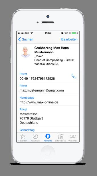 iPhone Kontakte vom PC am iPhone sichern