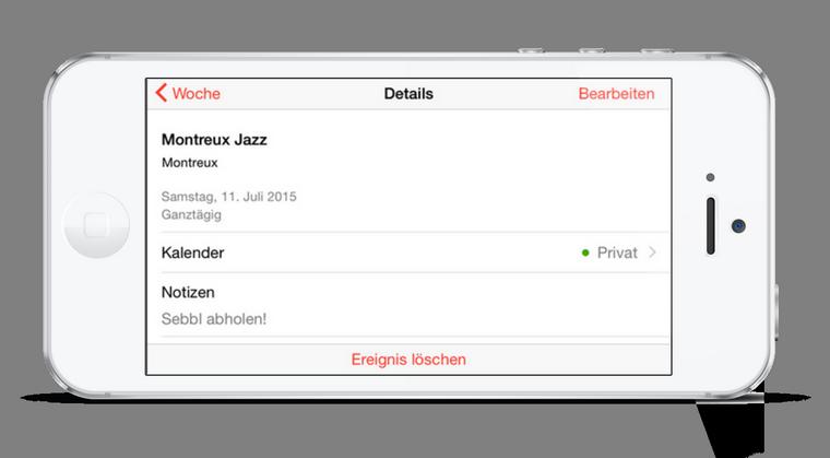 iPhone Kalender aktualisieren