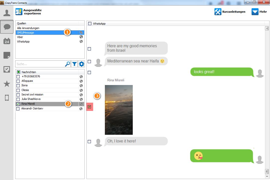 SMS und iMessage am PC sichern und ausdrucken